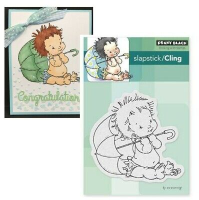 Baby Rubber Stamps Penny Black Shower Cling Stamp 40-294 Umbrella Mo (Baby Shower Postage Stamps)