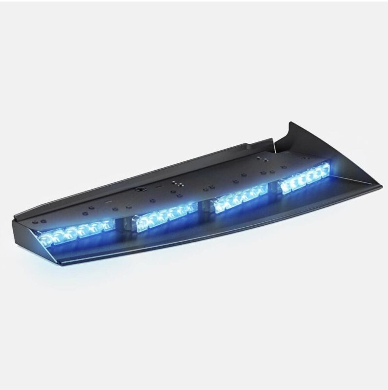 Feniex Fusion Front Passenger Interior Visor Light Bar Single Color Blue