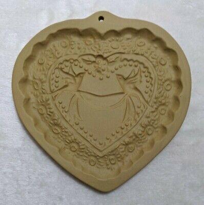 Brown Bag Cookie Art - Heart Shaped Mold Love Birds - Vintage 1985 - 6x6 Wedding