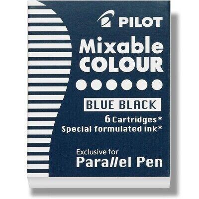 Pilot Parallel Pen Calligraphy Pen Ink Refill Cartridge Blueblack 1 Pack Of 6