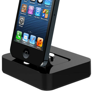 Universal Desktop Dock Cradle Charger (fits case) - iPhone 5 / iPad Mini + more