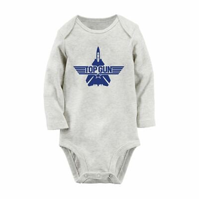 Top Gun Fancy Newborn Jumpsuit Baby Bodysuit Clothes Outfits Long Sleeve Rompers (Topgun Outfit)