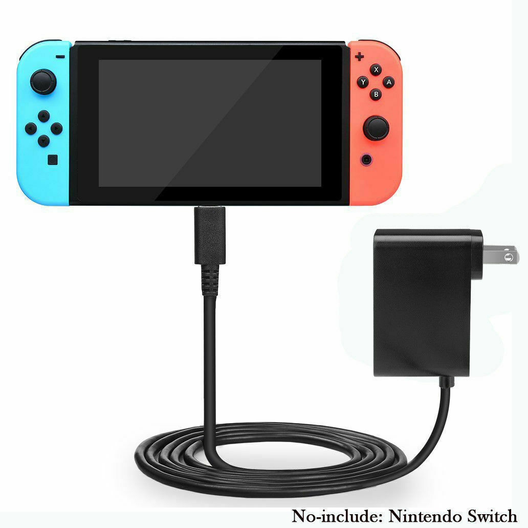 AC Power Adapter Wall Travel Charger Charging Cord For Nintendo Switch USA Chargers & Charging Docks