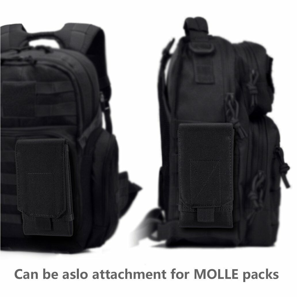 Tactical Cell Phone Belt Pack Bag Cover Universal Molle Waist Pouch Holster Case Cases, Covers & Skins