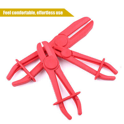 3pcs Flexible Offset Hose Fuel Pliers Clamp Plier Set Brake Radiator Pipes Red