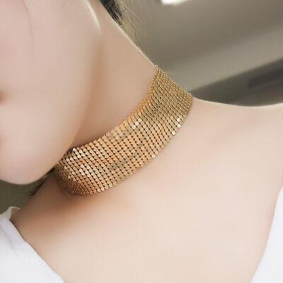 Gold Halskette Kurze Kette Choker  Halsreif Halsband für Party/Cocktailkleid