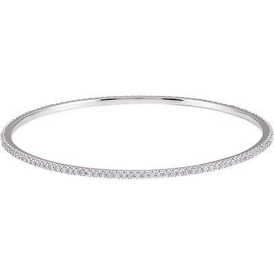 Diamond Infinity Bangle Bracelet 1 Ct TDW 14K Rose, White or Yellow Gold 8