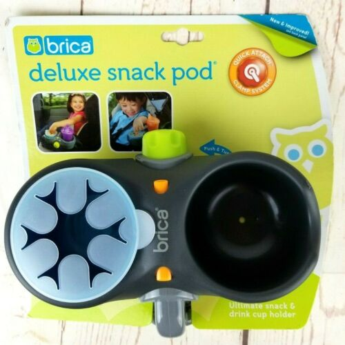 Brica Deluxe Snack Pod Quick Attach Car Seats & Strollers Snack and Drink Holder