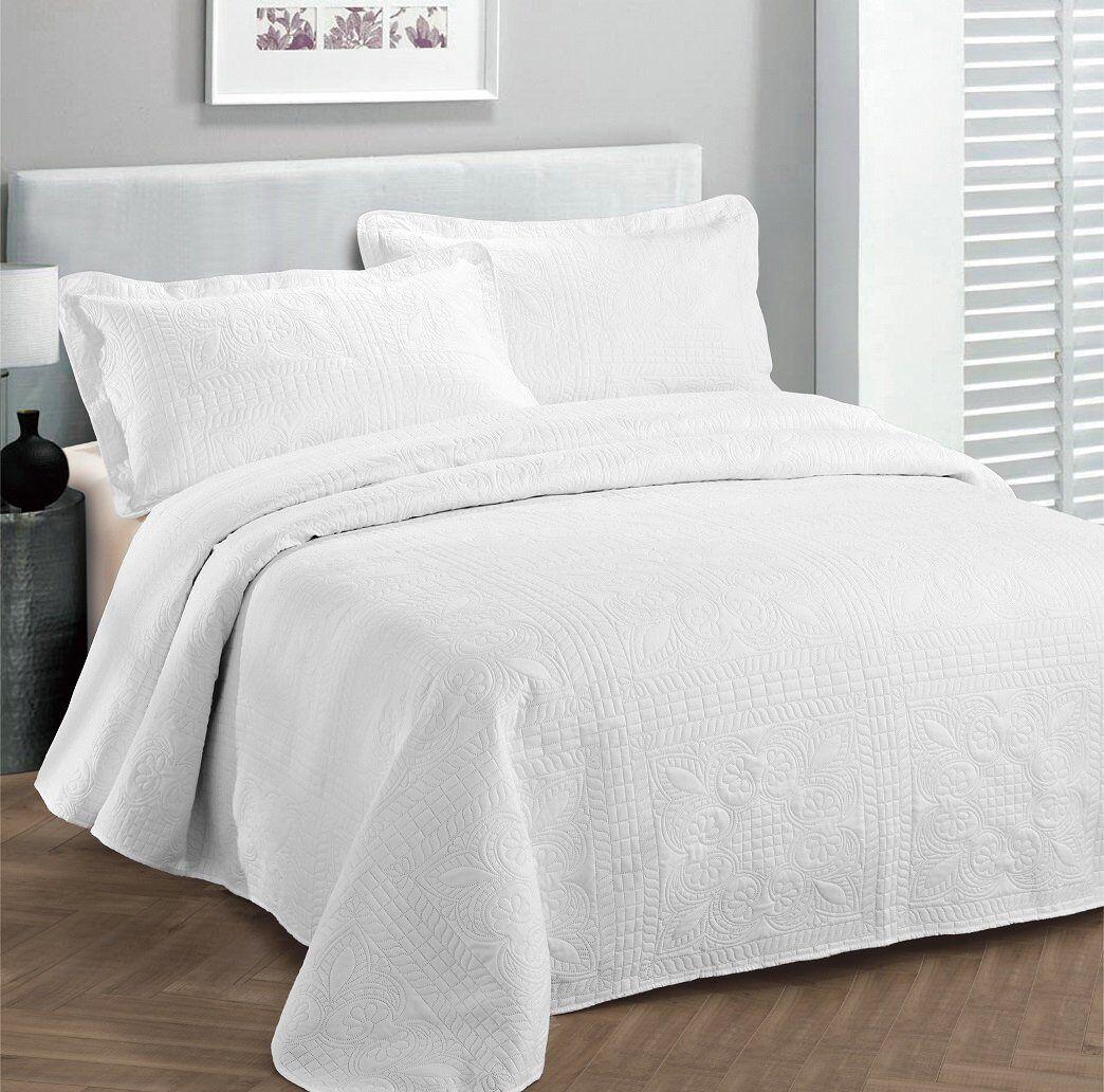 Fancy Linen Oversize Luxury Embossed Bedspread Assorted Colo