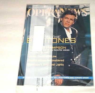 OPERA NEWS August 2003 Magazine NEW Factory Sealed Bag Unread Thomas Hampson
