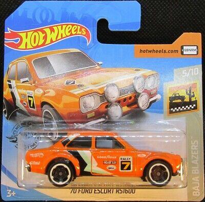 Hot Wheels '70 Ford Escort RS1600 ORANGE #52 2020 new on short card