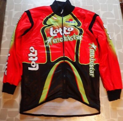 Nalini Lotto Mobistar Thermal Fleece Lined Cycling Jersey Long Sleev