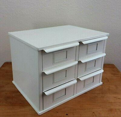 Metal 6 Bin Storage Industrial Drawer Cabinet Desktop Craft Supplies Small Parts