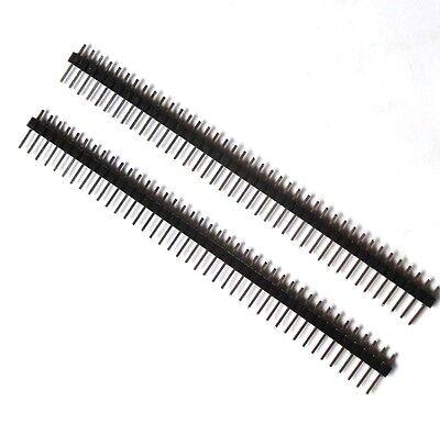 10pcs 40pin 2.54mm Single Row Straight Male Pin Header Strip Pbc For Ardunio