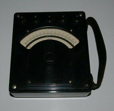 Vintage Westinghouse Direct Current Volt Meter Portable Type Px5