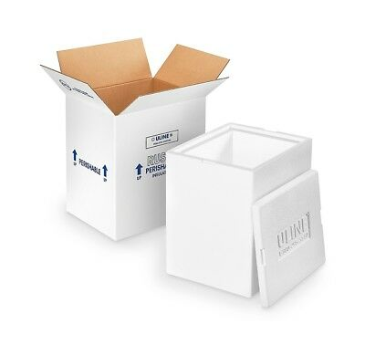 Uline Insulated Foam Shipping Kit - 12 X10 X15 Styrofoam Cooler Ships Same Day