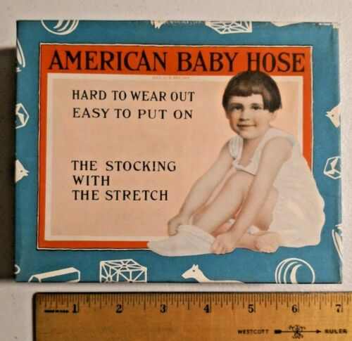 Vintage American BABY Hose Advertising Stocking Sock Girl Toy Complete -- 530