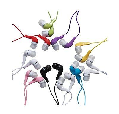 JustJamz Kids 10 Pack Jelly Roll Colorful  Earbud Headphones Earphones Colors