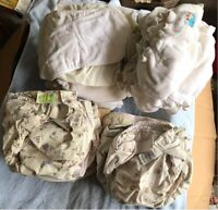 Set of cloth diapers (22) - sanitized and in good shape