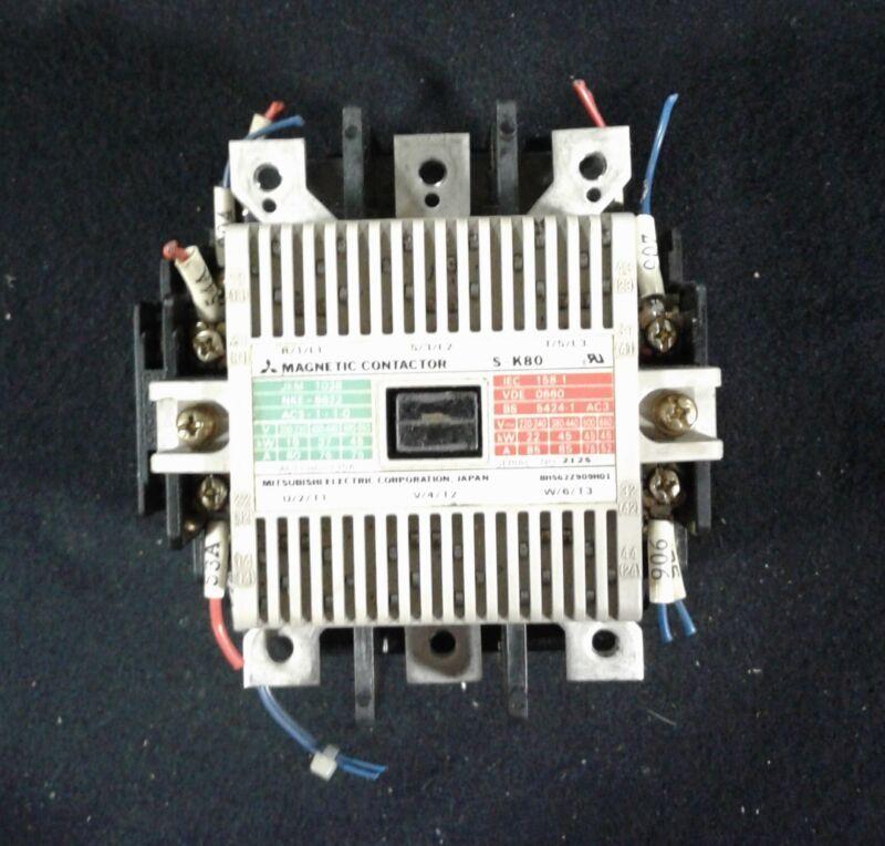 Mitsubishi S-K80 Motor Starter Magnetic Contactor