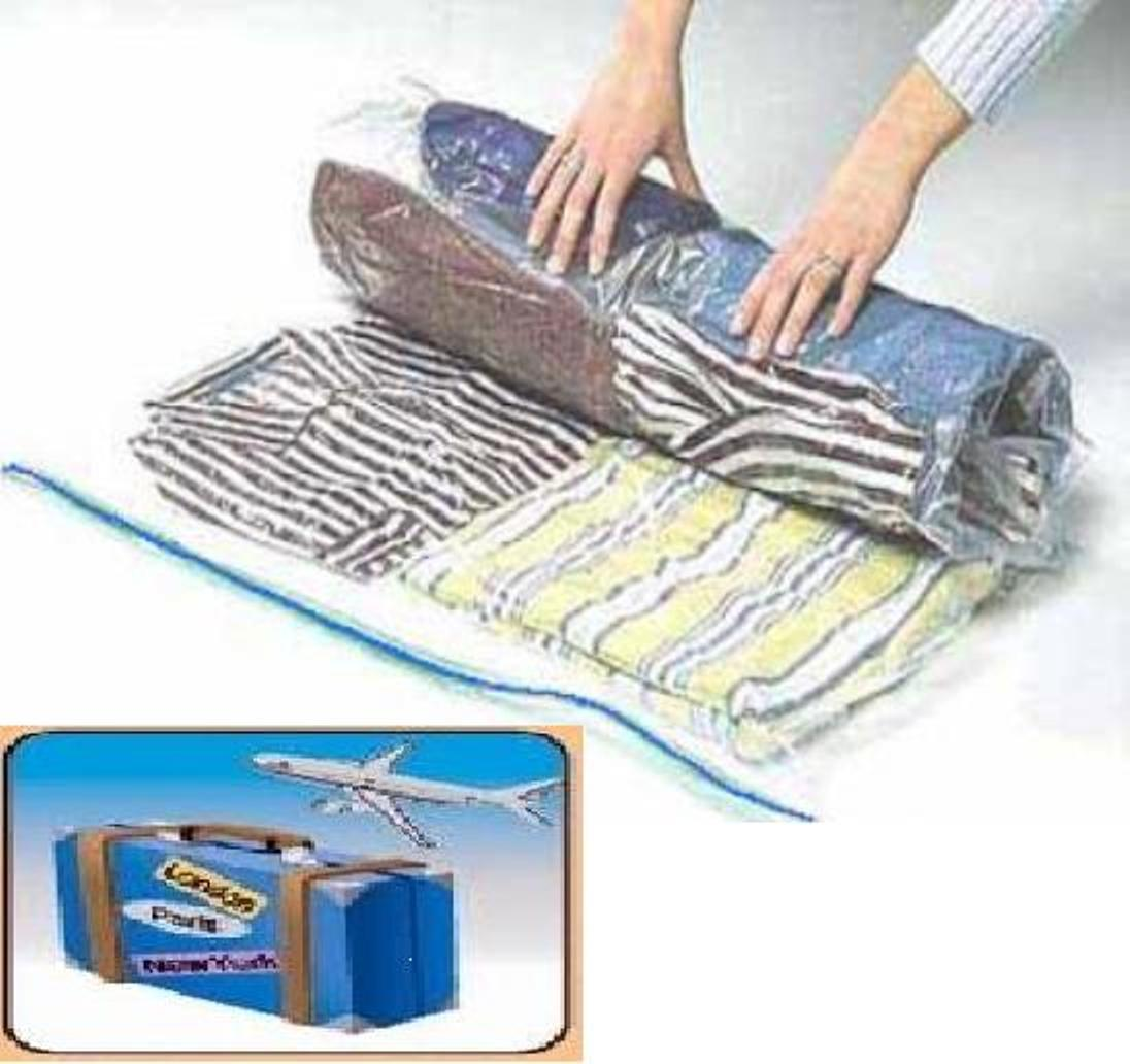 24 Pack Space Saver Storage Travel Roll Up Thick Compress Ba