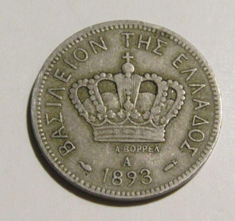 Greece 1893-A 20 Lepta coin