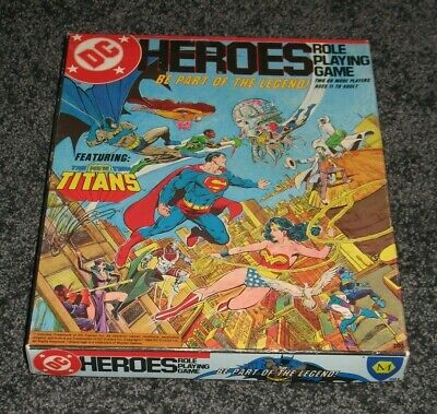 Vtg 1985 Mayfair DC Heroes New Teen Titans Comic Superhero role playing game