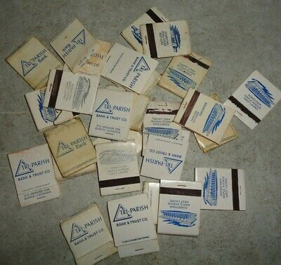 20 PLUS VINTAGE TRI-PARISH BANK ADVERTISING MATCH BOOKS #
