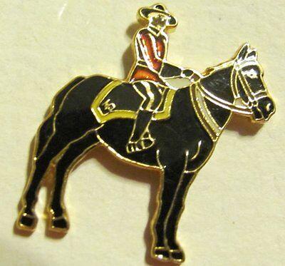 Sandy Cove Canada Canadian Mounty & Horse Cloisonne Enamel Pin Back Tie Tack