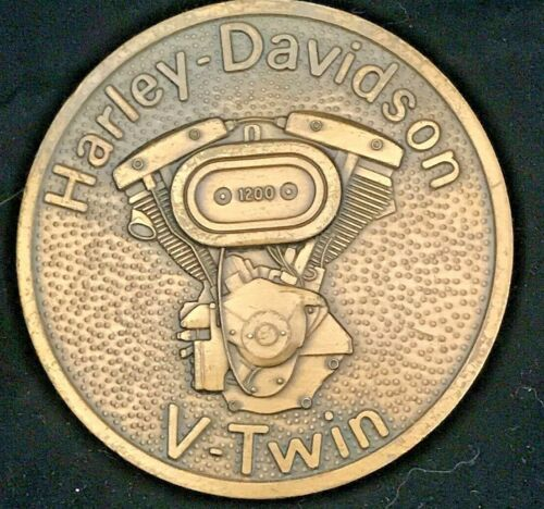 Harley Davidson V-Twin 1200 Motorcycle Belt Buckle Solid Brass