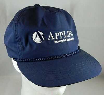 Vintage Applied Industrial Technologies Company Strapback Hat Blue Otto Ball Cap