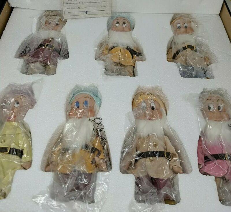 Walt Disney Knickerbocker 70th Anniversary Seven Dwarfs Porcelain Repro of 1930s
