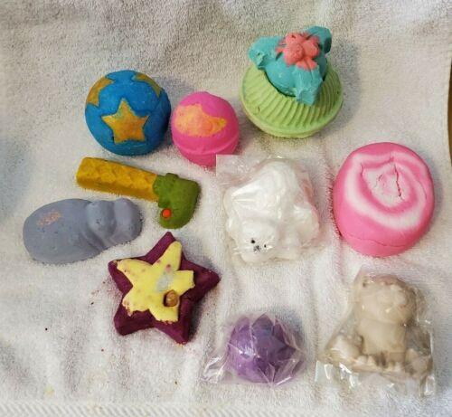 Lush Cosmetics 10 PIECE LOT Hippo Elf Snow Fairy Polar Bear Holly Angels Star
