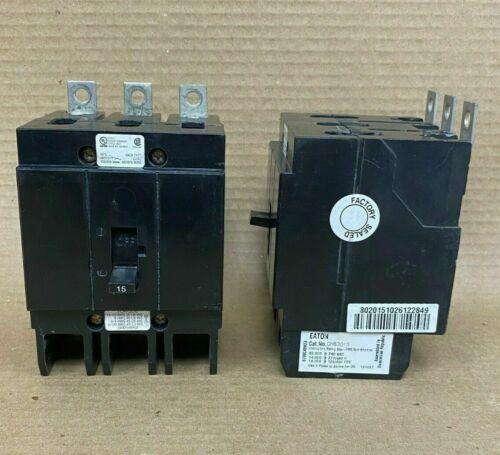Eaton Cutler Hammer GHB GHB3015 3 Pole 15 Amp 480V Circuit Breaker