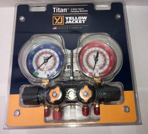 Yellow Jacket 49963 Titan™ 4-Valve Manifold Only, R-22 / 404a / 410a