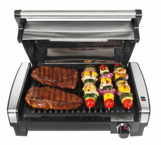 Hamilton Beach 25361 Searing Grill with Lid Viewing Window,N