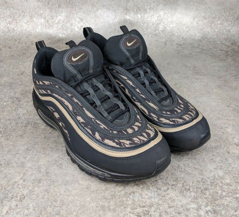 dbf1ef6b81 Nike Air Max 97 AOP Tiger Black Camo (AQ4132-001) Athletic Shoes Men's