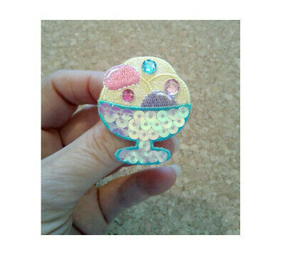 Ice Cream Themed Birthday Party (Ice Cream Pin Brooch -  Birthday - Party - Embroidered - Theme)