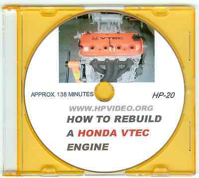 """How to Rebuild your Honda VTEC B16/18 D16 F22 H22 Civic CRX Engine Video """"DVD""""  for sale  Shipping to Canada"""