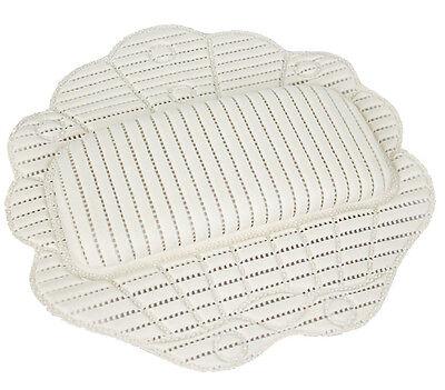Anti-Rutsch Badekissen komfortabel gepolstertes Vinyl-Kissen mit 6 Ansaugknöpfe