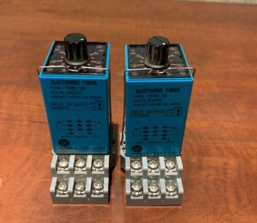 (2 Pack) Westinghouse Electric Timer TRN 1B | 120V 10A MIN SEC