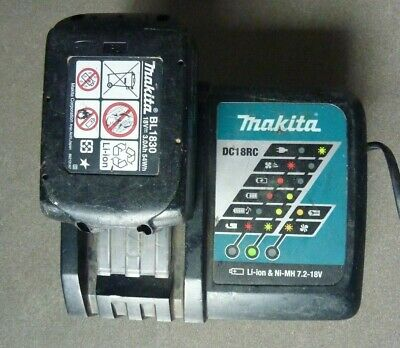 Genuine Makita DC18RC 240v Charger used with ORIGINAL18V 3.0Ah LITHIUM battery