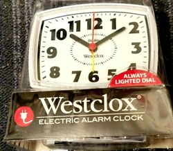 Westclox Alarm Clock Lighted Dial Retro Appearance Electric Analog White 22192
