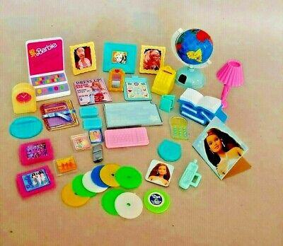 Mattel ** BARBIE ** Desk & Misc. Accessories ** Atlas globel-pictures-CDs-more
