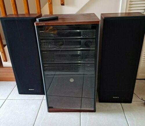Sony Hi Fidelity Stereo System (HDC -251) w/Speakers & Sony Audio Rack SU-S2510
