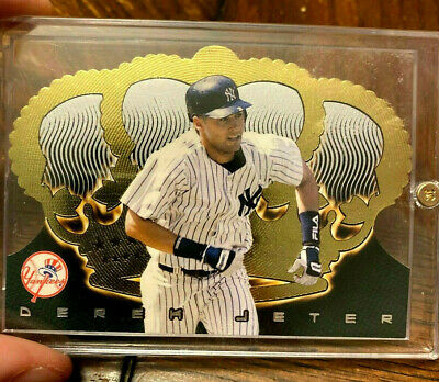 Derek Jeter 1999 Pacific Crown Royale Gold Foil Die Cut