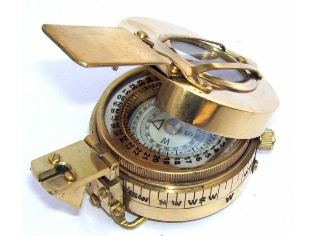 MILITARY COMPASS ENGINEERING COMPASS PRISMATIC VINTAGE NAUTICAL STYLE HANDMADE