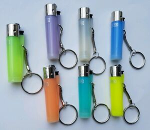 Clipper keyring lighter fluorescents/ 7 colours  mini clipper keyrings