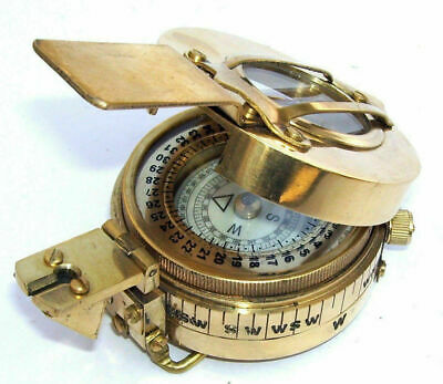 Prismatic Antique Nautical Ww2 Mark Vintage Solid Marine British Pocket compass