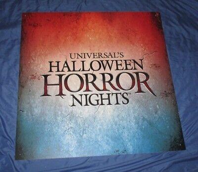HALLOWEEN HORROR NIGHTS 27 Universal Studios Theme Park Prop Sign 2017 ~HUGE - Halloween Horror Theme 2017